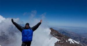 På toppen av Aconcagua