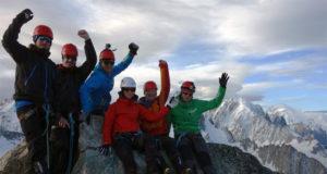 Toppen av Aiguille de Tour