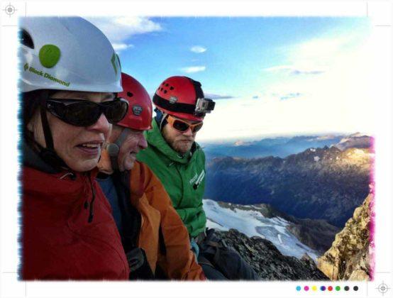 På toppen av Aiguille du Tour