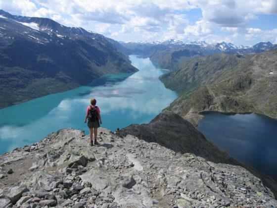 Utsikt från toppen av Besseggen