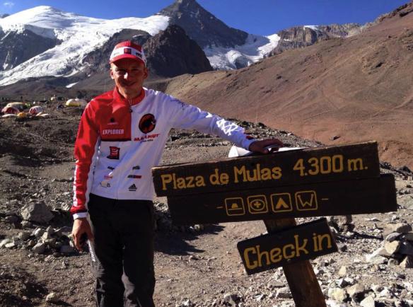 Karl Egloff - rekord på Aconcagua