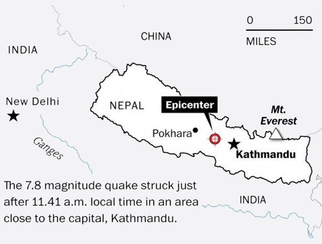 Jordbävning Nepal
