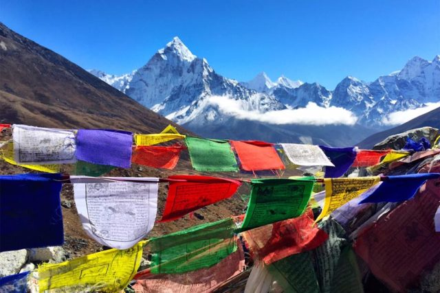 Ama Dablam & Prayer Flags